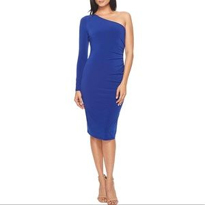 🆕 NWT LONDON TIMES one-shoulder side ruched dress